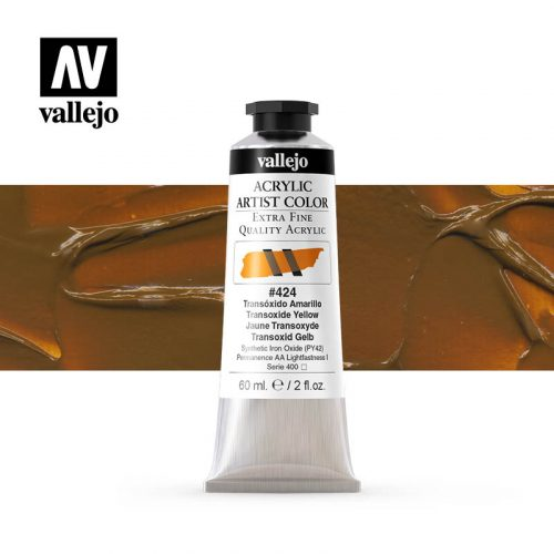 acrylic artist color vallejo transoxide yellow 424 60ml