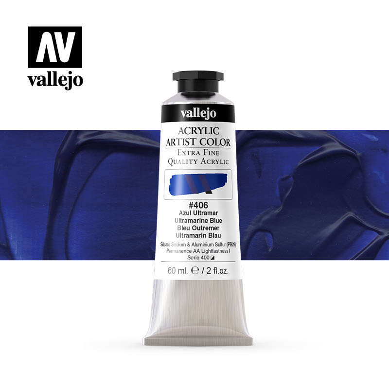 acrylic artist color vallejo ultramarine blue 406 60ml