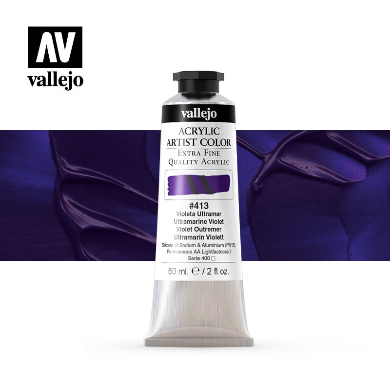 acrylic artist color vallejo ultramarine violet 413 60ml