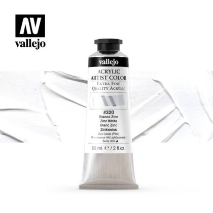 acrylic artist color vallejo zinc white 320 60ml