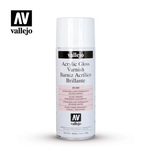 acrylic gloss vasrnish aerosol vallejo 28530 400ml