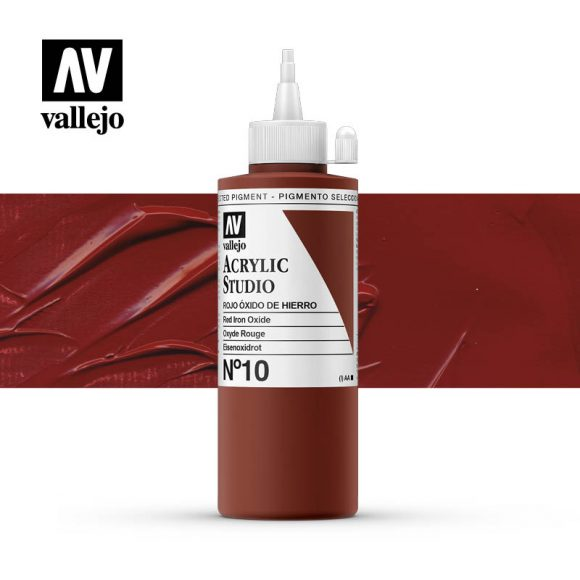 Vallejo Acrylic Studio Red Iron Oxide 10
