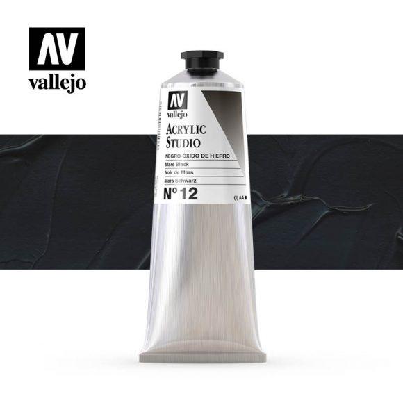Vallejo Acrylic Studio Mars Black 12