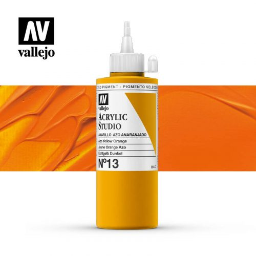 Vallejo Acrylic Studio Azo Yellow Orange 13