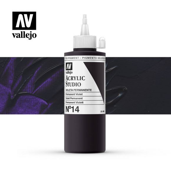 Vallejo Acrylic Studio Permanent Violet 14