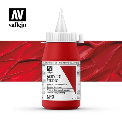 Vallejo Acrylic Studio Cadmium Red (Hue) 2