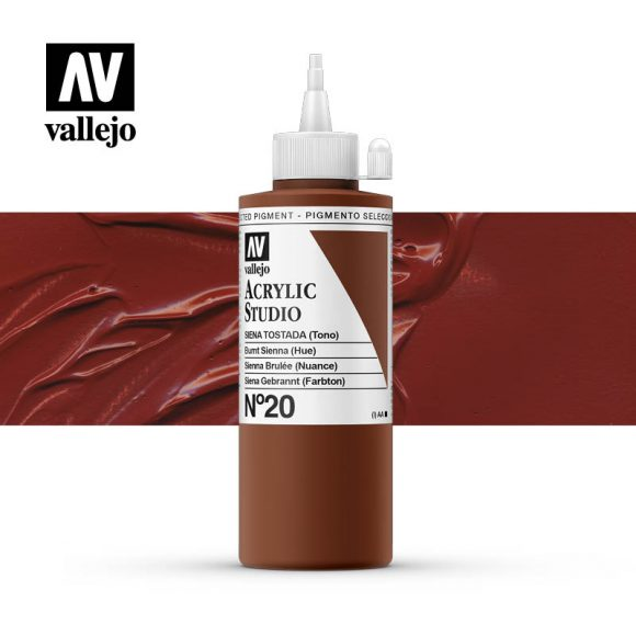 Vallejo Acrylic Studio Burnt Sienna 20