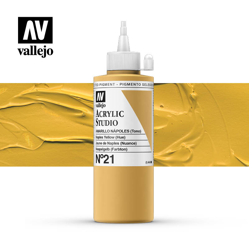 Vallejo Acrylic Studio Naples Yellow 21