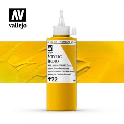 Vallejo Acrylic Studio Cadmium Yellow Deep (Hue) 22