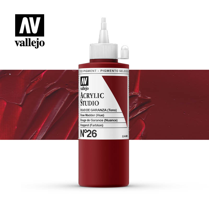 Vallejo Acrylic Studio Rose Madder 26
