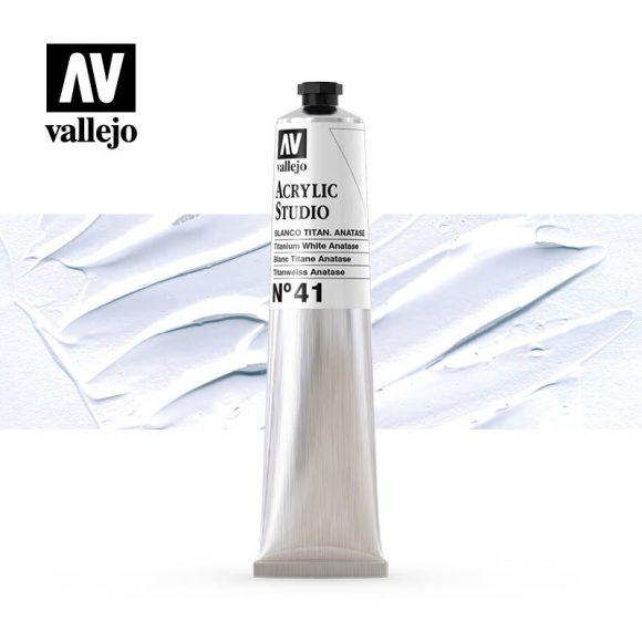 Vallejo Acrylic Studio Titanium White Anatase 41