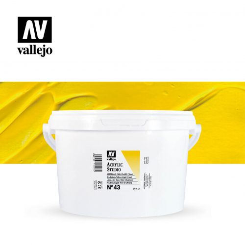 Vallejo Acrylic Studio Cadmium Yellow Light 43