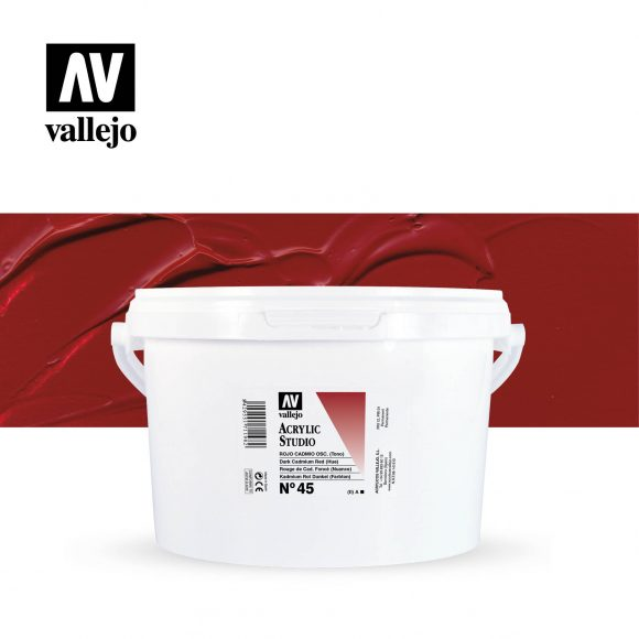 Vallejo Acrylic Studio Dark Cadmium Red (Hue) 45