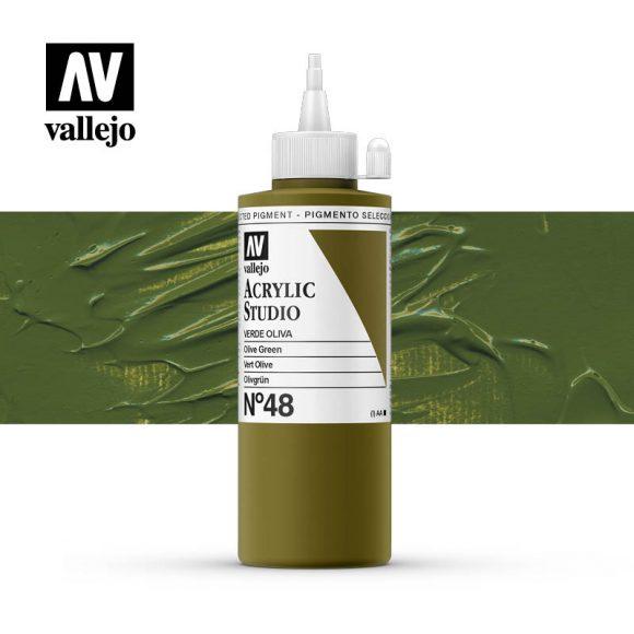 Vallejo Acrylic Studio Olive Green 48