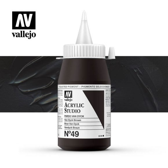 Vallejo Acrylic Studio Van Dyck Brown 49