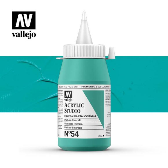 Vallejo Acrylic Studio Phthalo Emerald 54