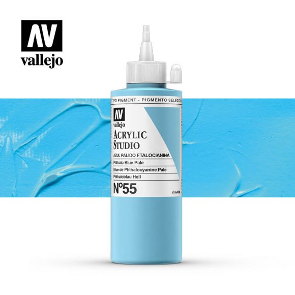 Vallejo Acrylic Studio Phthalo Blue Pale 55