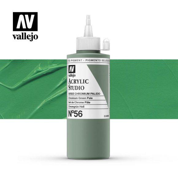 Vallejo Acrylic Studio Chromium Green Pale 56
