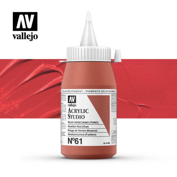 Vallejo Acrylic Studio Venetian Red 61