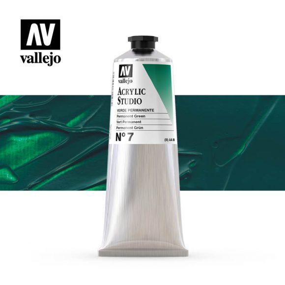 Vallejo Acrylic Studio Permanent Green 7