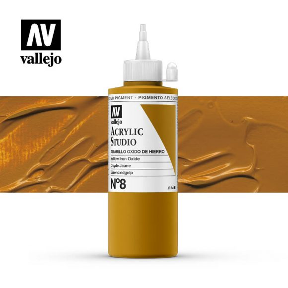 Vallejo Acrylic Studio Yellow Iron Oxide 8
