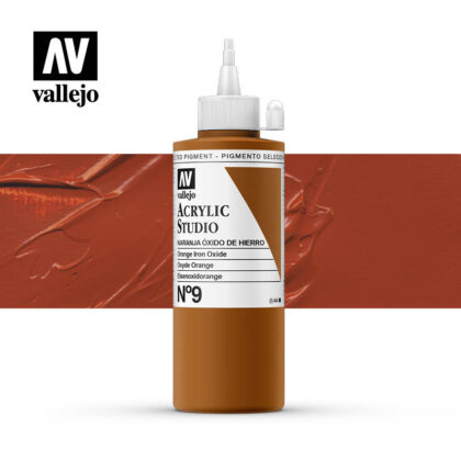 Vallejo Acrylic Studio Orange Iron Oxide 9