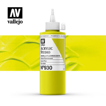 Vallejo Acrylic Studio Yellow Fluorescent 930