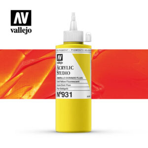 Vallejo Acrylic Studio Yellow Orange Fluorescent 931