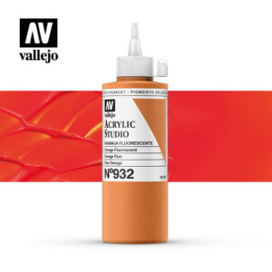 Vallejo Acrylic Studio Orange Fluorescent 932