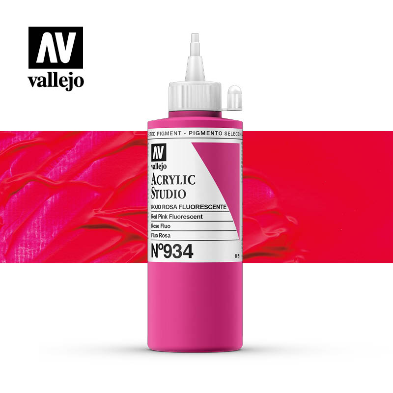 Vallejo Acrylic Studio Red Pink Fluorescent 934