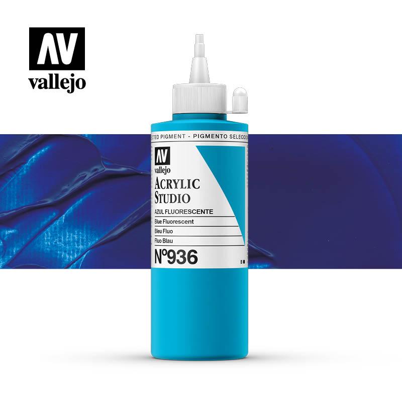Vallejo Acrylic Studio Blue Fluorescent 936