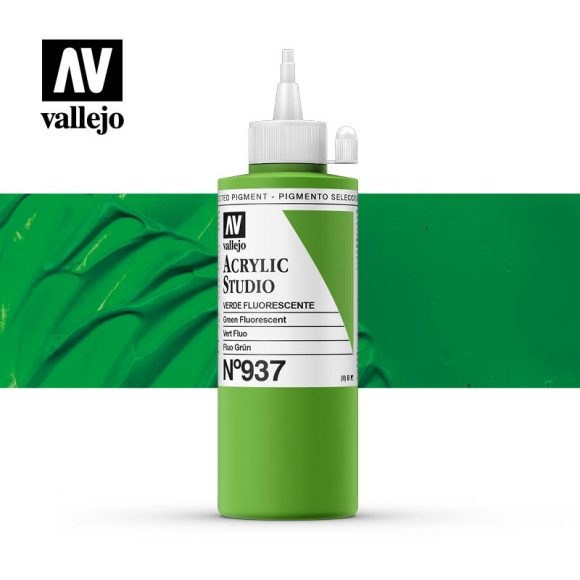 Vallejo Acrylic Studio Green Fluorescent 937