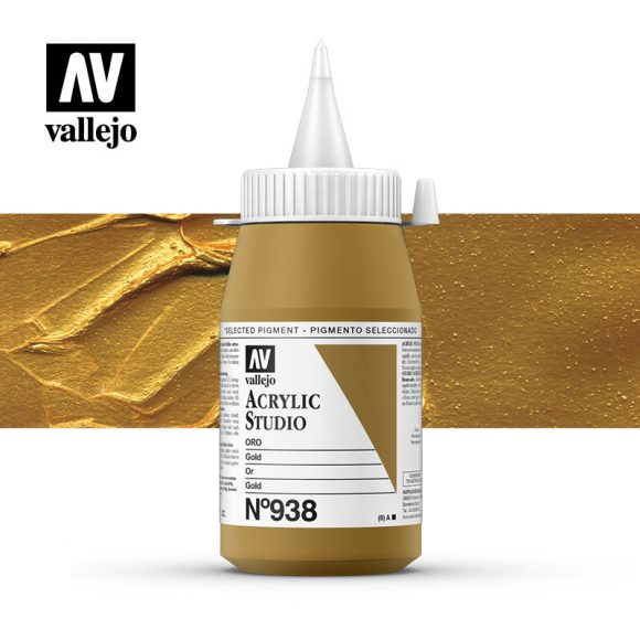 Vallejo Acrylic Studio Gold 938