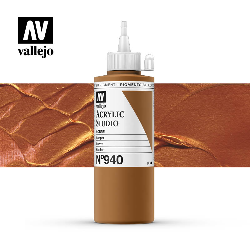 Vallejo Acrylic Studio Copper 940