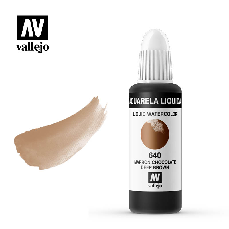 acuarela liquida vallejo deep brown 640