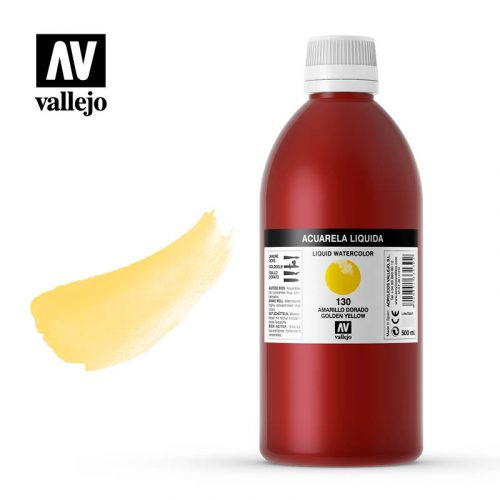acuarela liquida vallejo golden yellow 130
