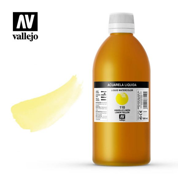 acuarela liquida vallejo lemon yellow 110