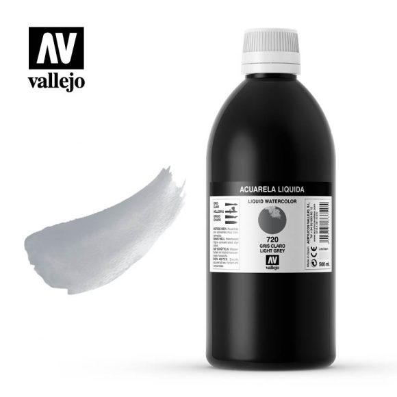 acuarela liquida vallejo light grey 720
