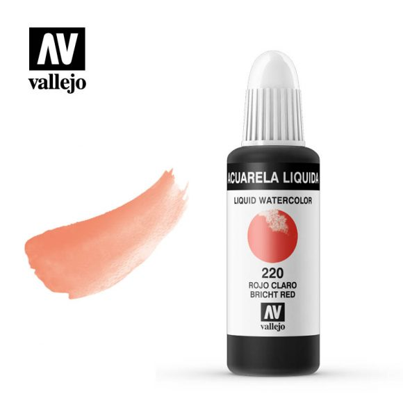 acuarela liquida vallejo light red 220