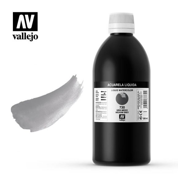 acuarela liquida vallejo medium grey 730