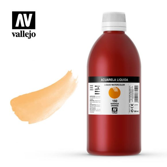 acuarela liquida vallejo orange 150