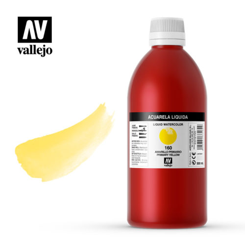Acuarela líquida Vallejo Primary Yellow 160 500ml