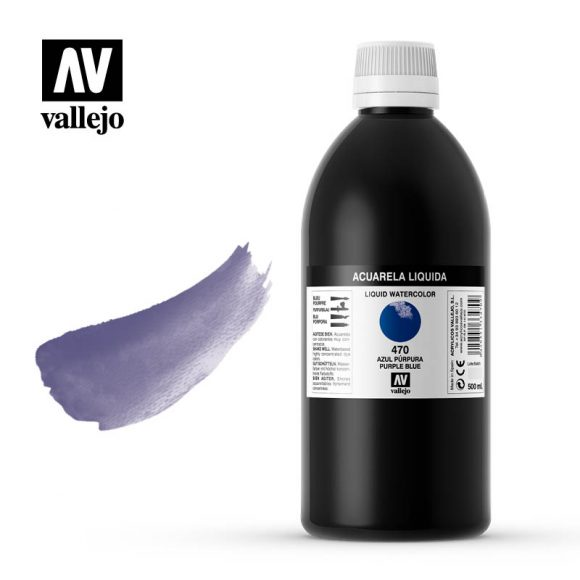 acuarela liquida vallejo purple blue 470