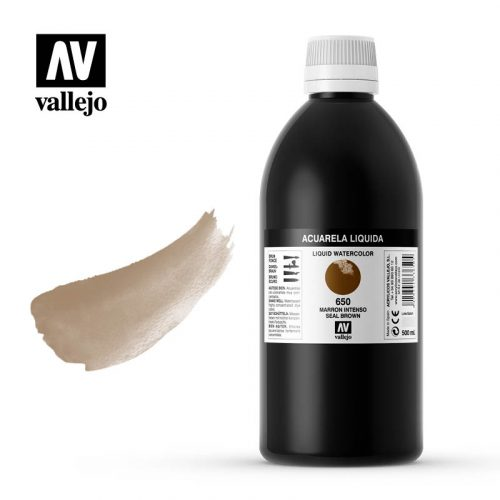 acuarela liquida vallejo seal brown 650