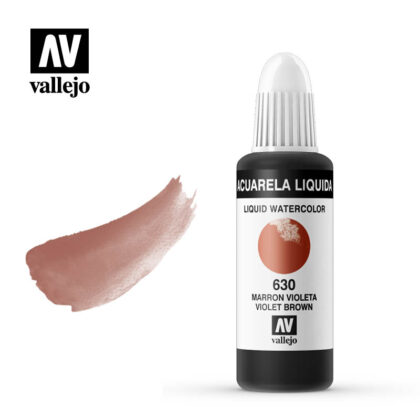 Acuarela Líquida vallejo violet brown 630 en botellas de 32ml