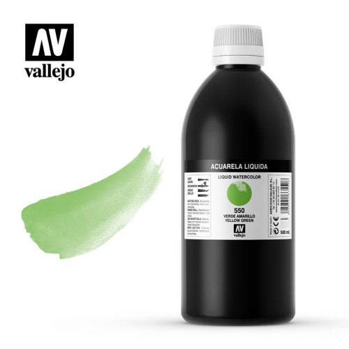 acuarela liquida vallejo yellow green 550