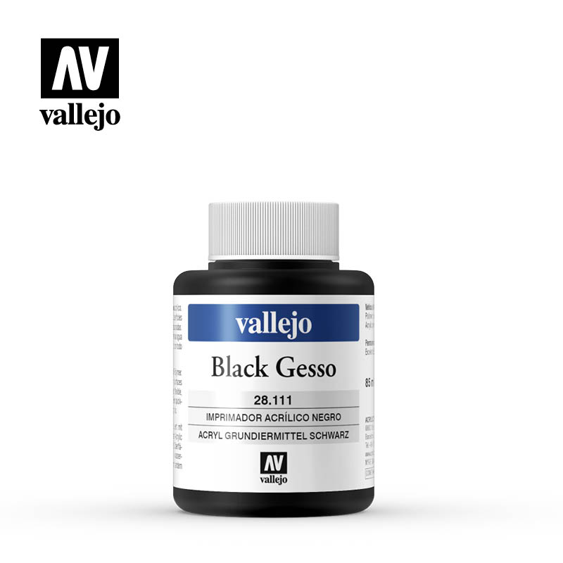 black gesso vallejo 28111 85ml