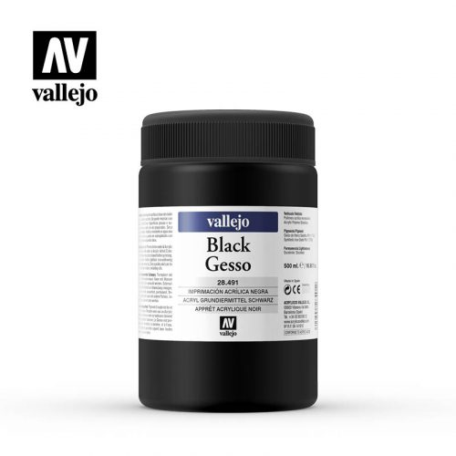 black gesso vallejo 28491 500ml