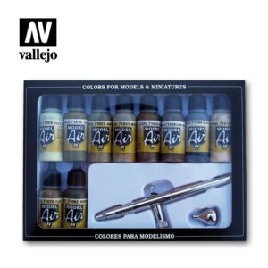 camouflage colors airbrush 71168 vallejo model air basic set
