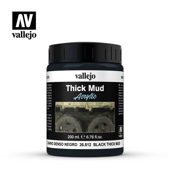 diorama effects vallejo black thick mud 26812